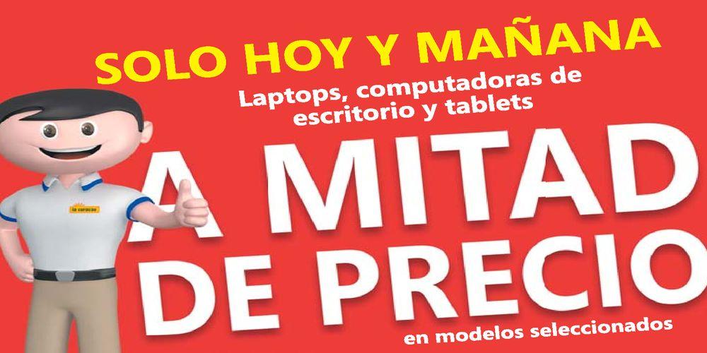 LACURACAO Computadoras y Tablet a MITAD de PRECIO este FINDE