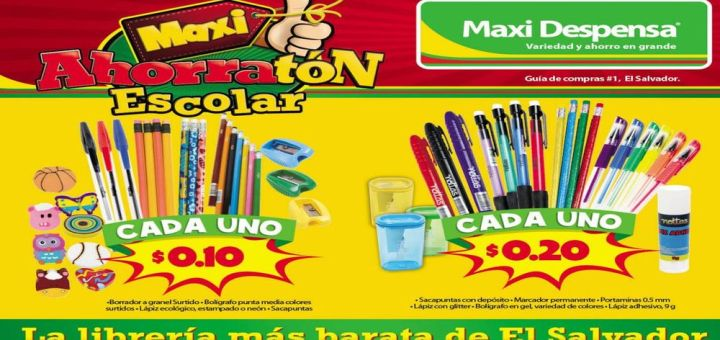 MAXI DESPENSA catalogo de utiles escolares 2017