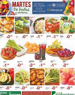 Ofertas selectos en frutas y verduras mas 10 off adcional con - 31ene17