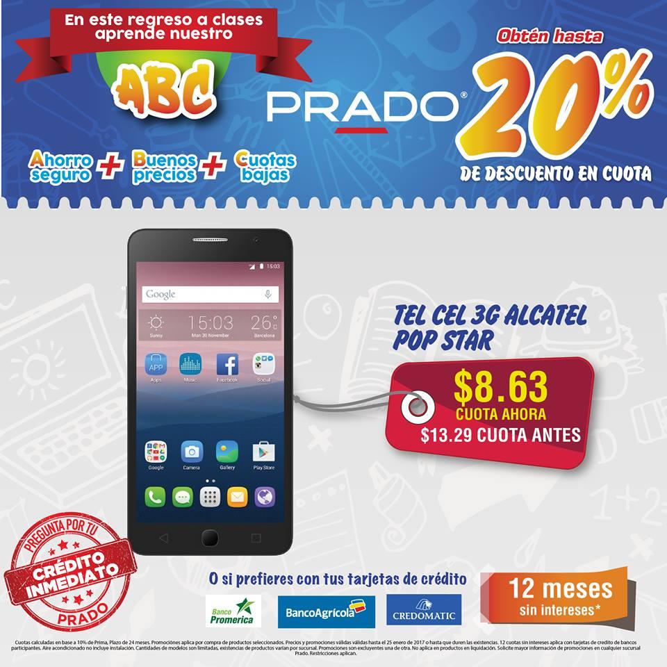 celulares PRADO ofera TEL CEL 3G ALCATEL pop star