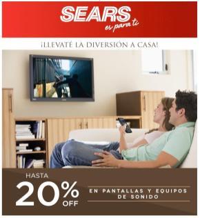 descuentos SEARSD en pantallas y euqipos de sonido