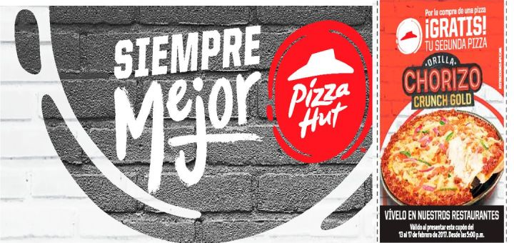 CUPON pizza hut gratis aniversario 2017