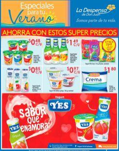 Toda la variedad de yogurt YES en oferta la despensa