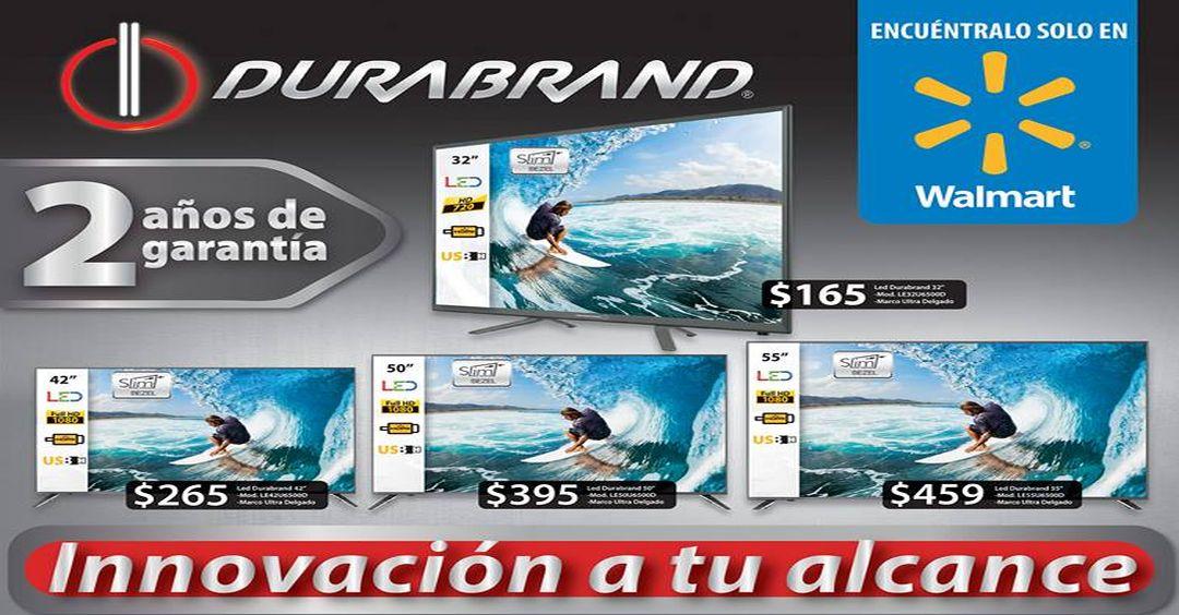 Walmart presenta sus Televisores DURABRAND smart TV set