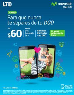 promocion DUO pack MOVISTAR celulares GOMobile