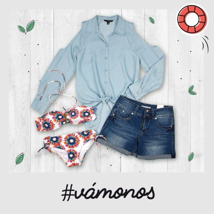 BIKINI short jeans and shirt for summer