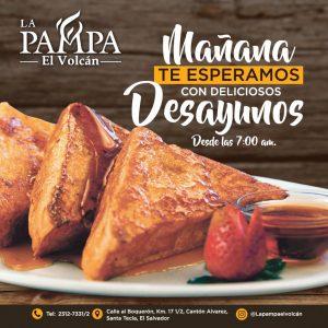 Desayunos en restaurante la pampa el volcan