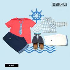 Summer outfit for kids BLUE and RED trend