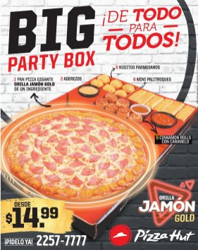Promociones PIZZA HUT Big party box for all