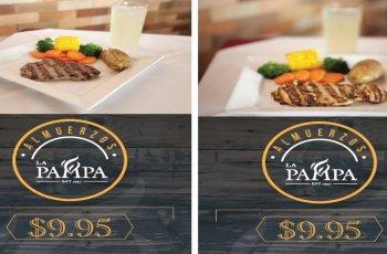 Promociones almuerzos restaurante LA PAMPA zona rosa