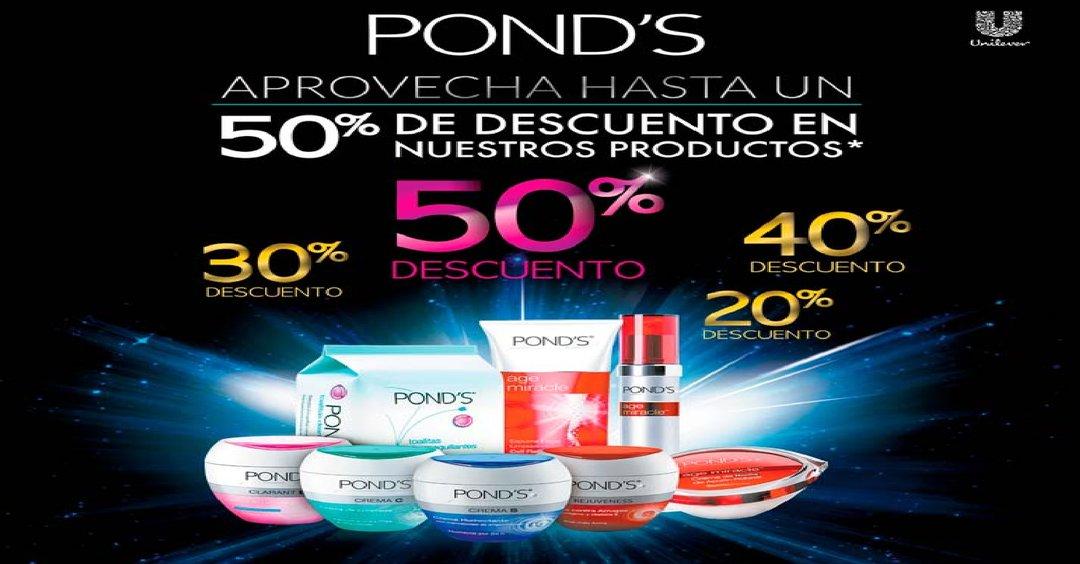 Productos PONDS hasta con 50% de descuento en Super Selectos