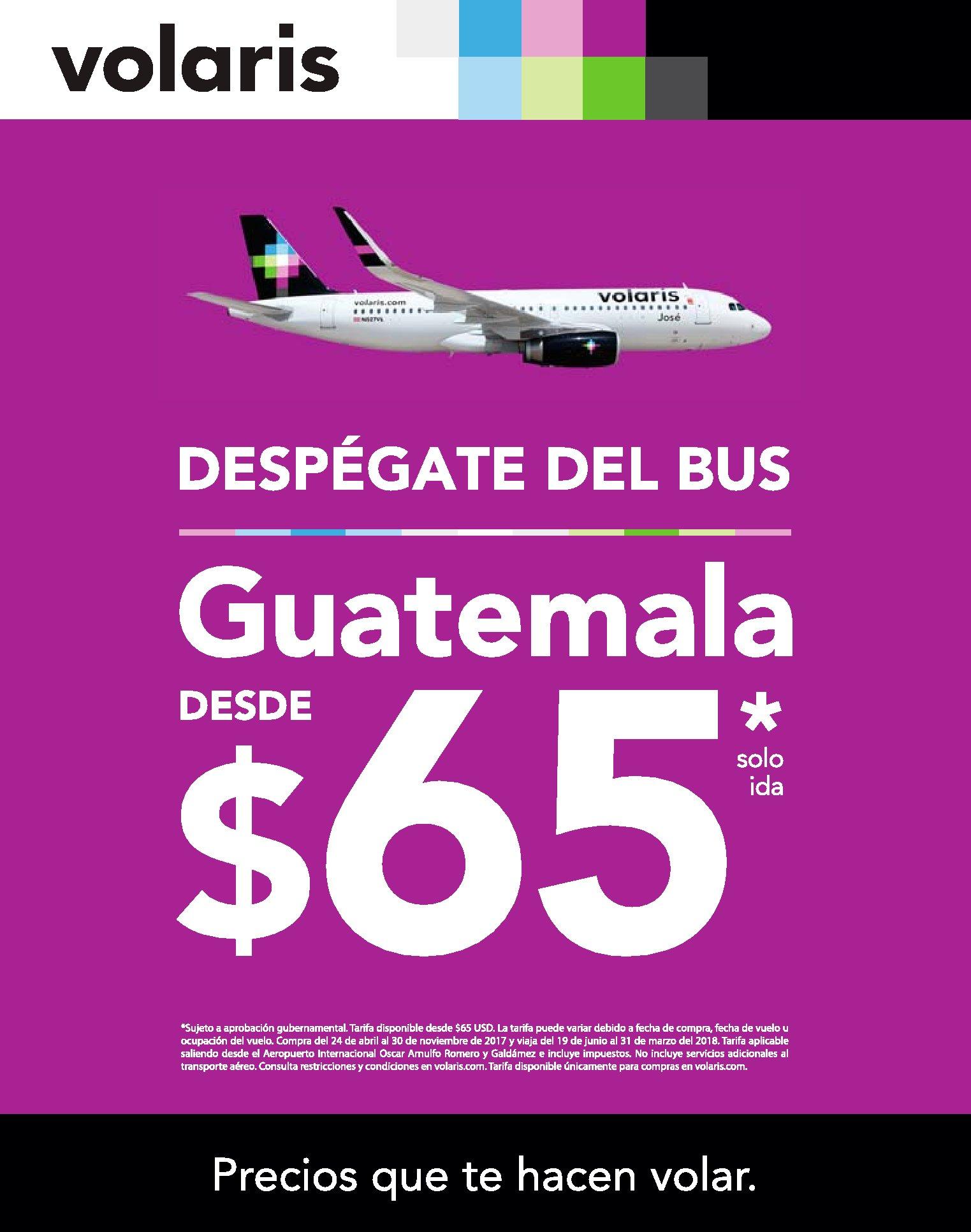 VOLARIS ofertas en boleto a GUATEMALA promocion