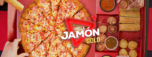 pizza hut GOLD con orilla de jamon