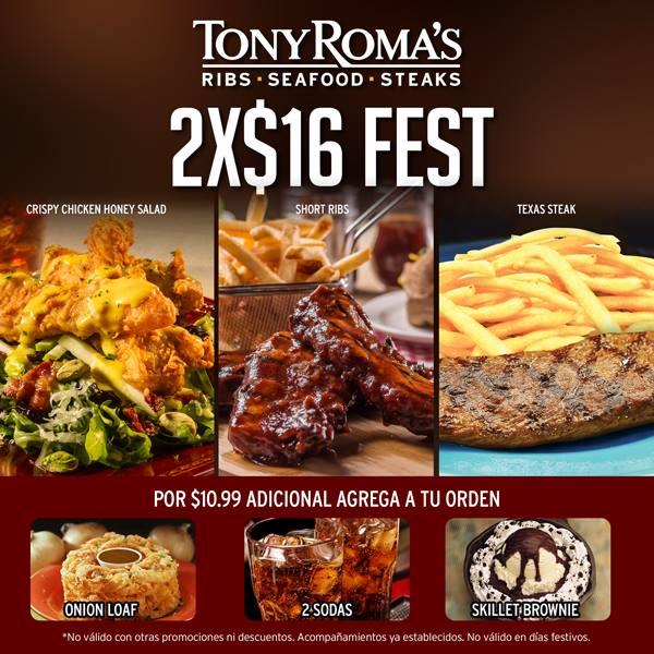 Cuales son los menus del 2x16 TONYS ROMAS