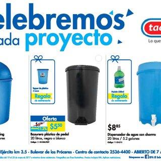 TACOPLAST BASUREROS de plastico e promocion EPA aniversario