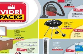 ofertas almacenes vidri sv packs mayo 2017