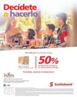 Banco Scotiabank descuento dia del padre en restaurante LAPAMPA