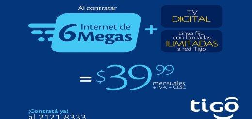 CONTRAR internet 6m tigo el salvador