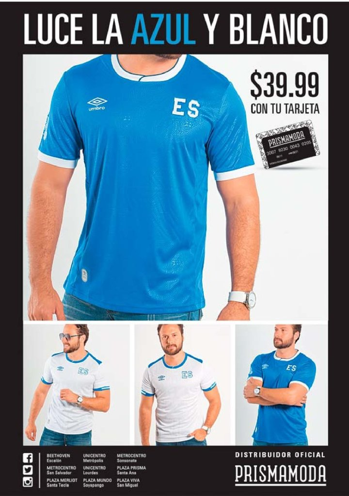 Comprale a PAPA la nueva camiseta de la SELECTA cuscatleca