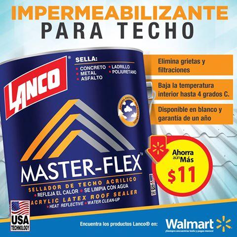 Impermeabilizante LANCO master flex en walmrt