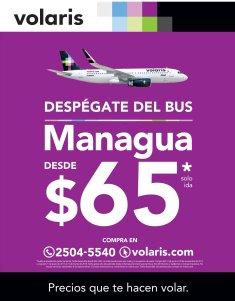 VOLARIS nuevo precio para viajar a MANAGUA Nicaragua 65 dolares