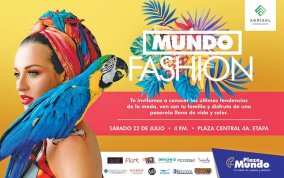 DESFILE de modas en plaza mundo FASHION sv