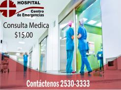 Precio de consulta medica en hospital centro de emergencias