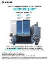 SAMSUNG GALAXY S8 bono de 150 dolares x tu compra