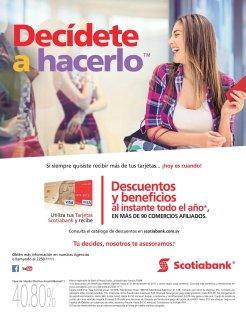 SCOTIABANK Descuentos y benficios al instante en comercios afiliados