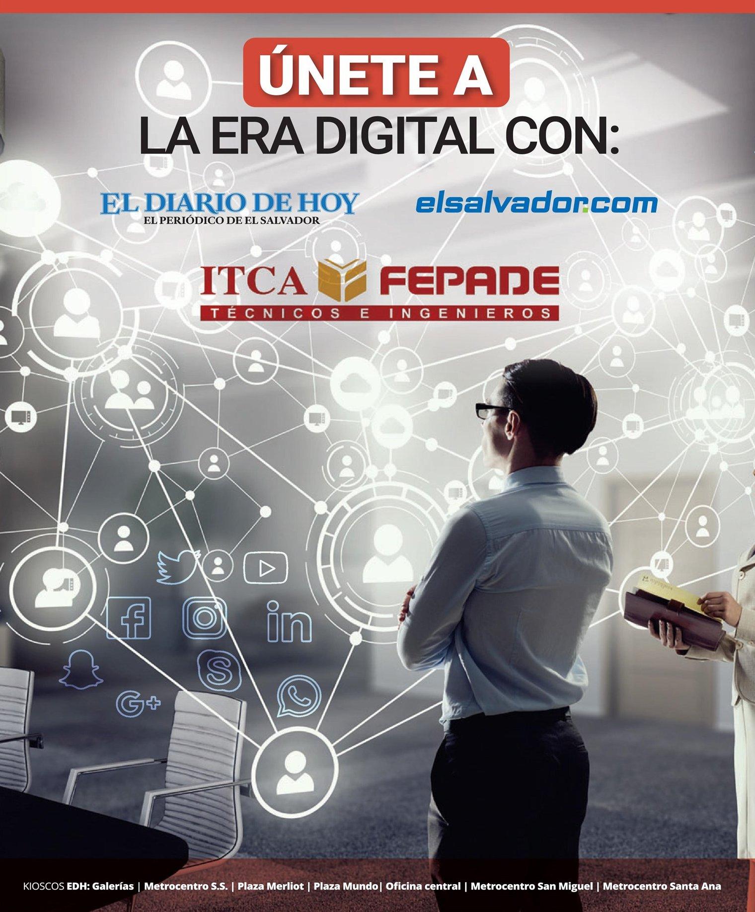 UNETE a la era digital carreras tecnicas gracias ITCA y EL Diarios de Hoy