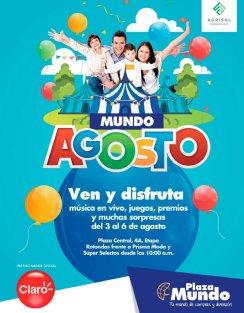 DIVESIONES familiares en plaza mundo en las fiestas agostinas 2017