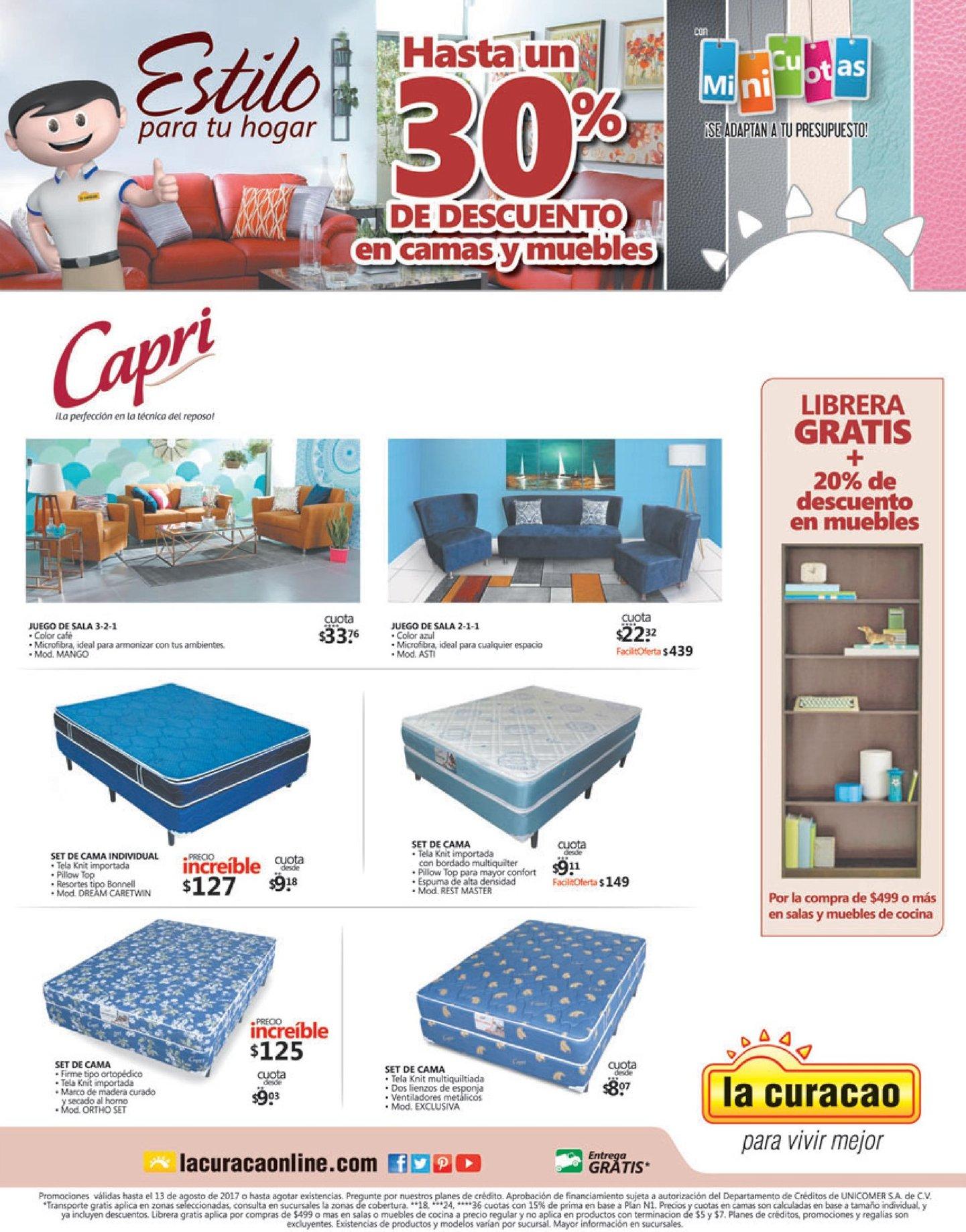 LA CURACAO festival de camas y muebles CAPRI