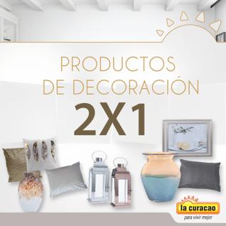 Productos y Accesorios decorativos 2x1 este finde en la curacao
