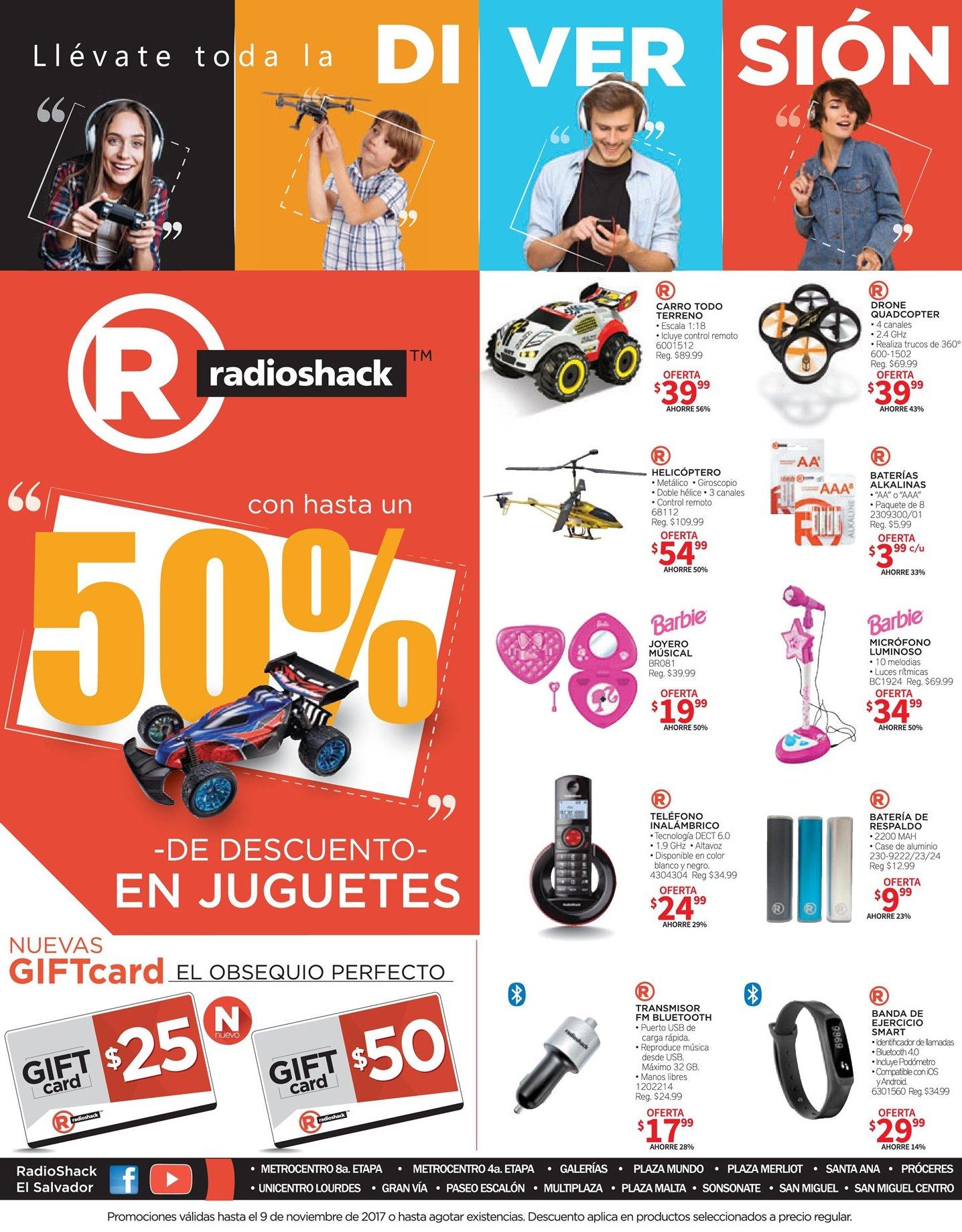 Radio Shack juguetes y diversion con 50 ff