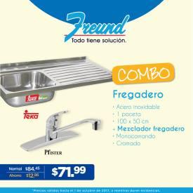 freund COMBO de fregaderos mas grifo mezclador