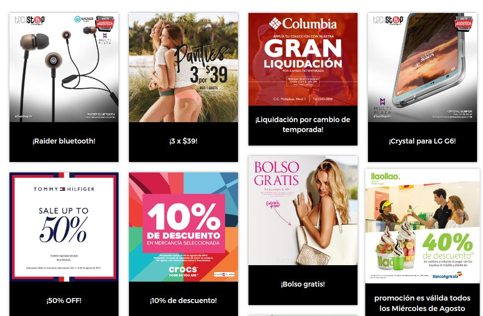 Promociones en centro comercial MULTIPLAZA (Agosto 2017)