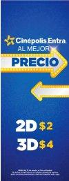 Entradas a CINEPOLIS al mejor precio peliculas 2D y 3D
