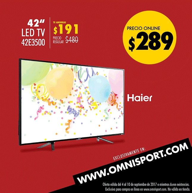 omnisport LED TV de 42 pulgadas marca HAIER
