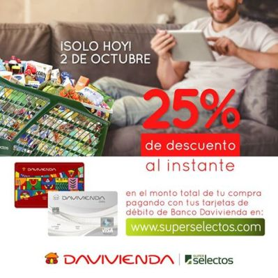 COMPRA en linea y recibe al instante 25 off superselectos