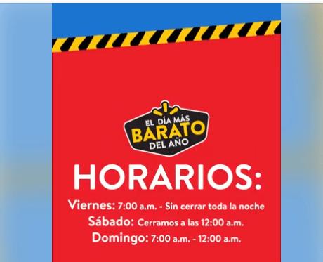 HORARIO DE EL DIA MAS BARATO DEL AÑO 2017