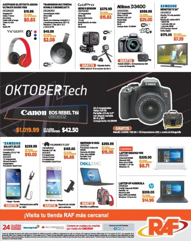 OCTOBER Tech deals RAF tecnologia difital