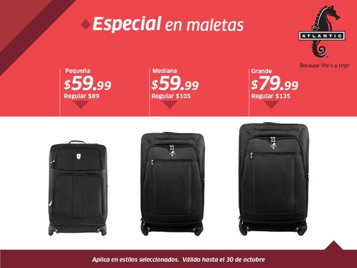 especial de equipaje y maletas ATLANTIC by siman