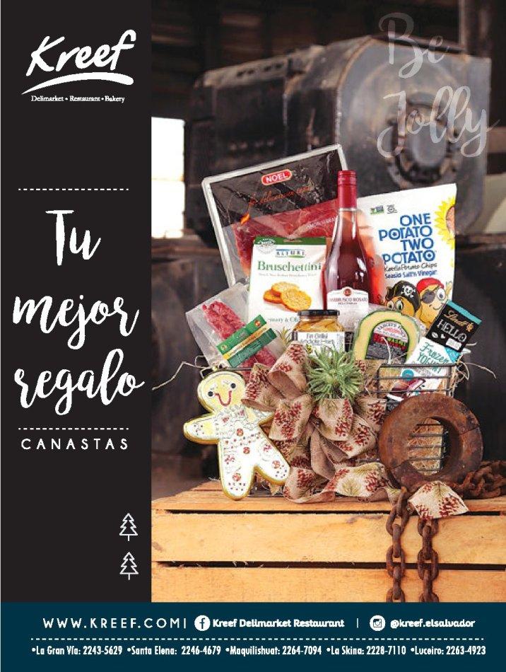 Canasta GOURMET de Kreef deli market el salvador
