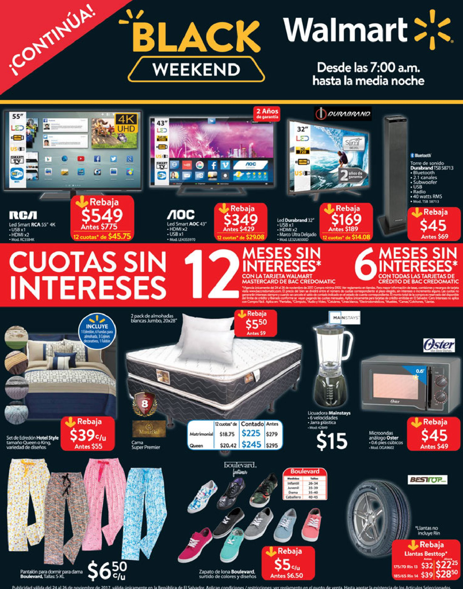 The Walmart Black Friday Ad has LANDED! Doors open at 6 p.m. (local time) on Thanksgiving night, and you can shop the entire day online. Prices are valid all day Friday, and the online sale starts Wednesday, November 21 at 10 pm EST.