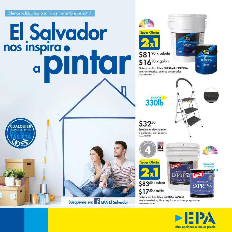 Ferreteria EPA El Salvador nos inspira a PINTAR 2017