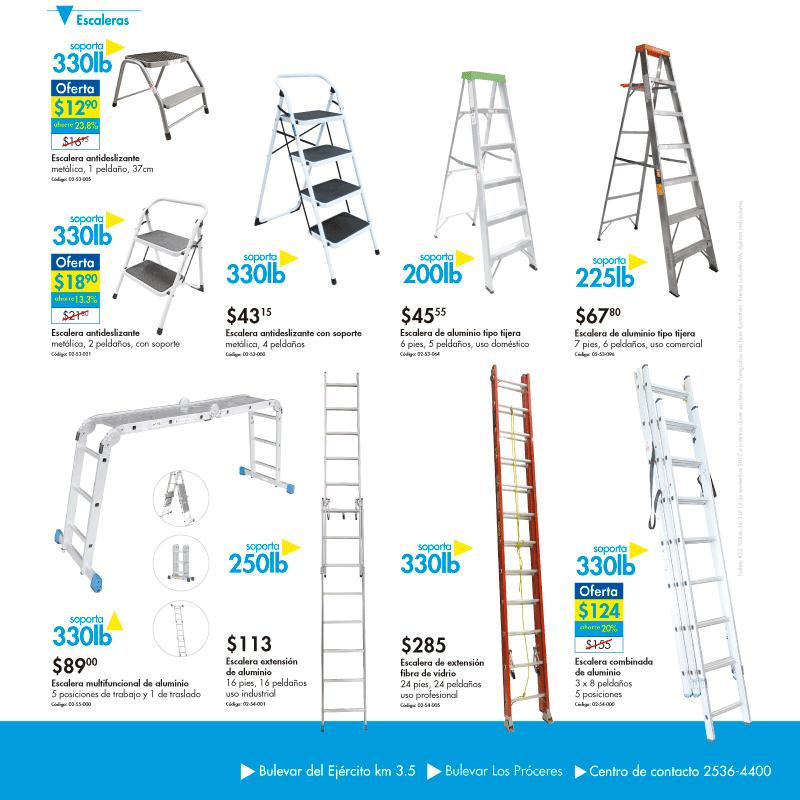 Ferreteria EPA variedad de escaleras metalicas y aluminio