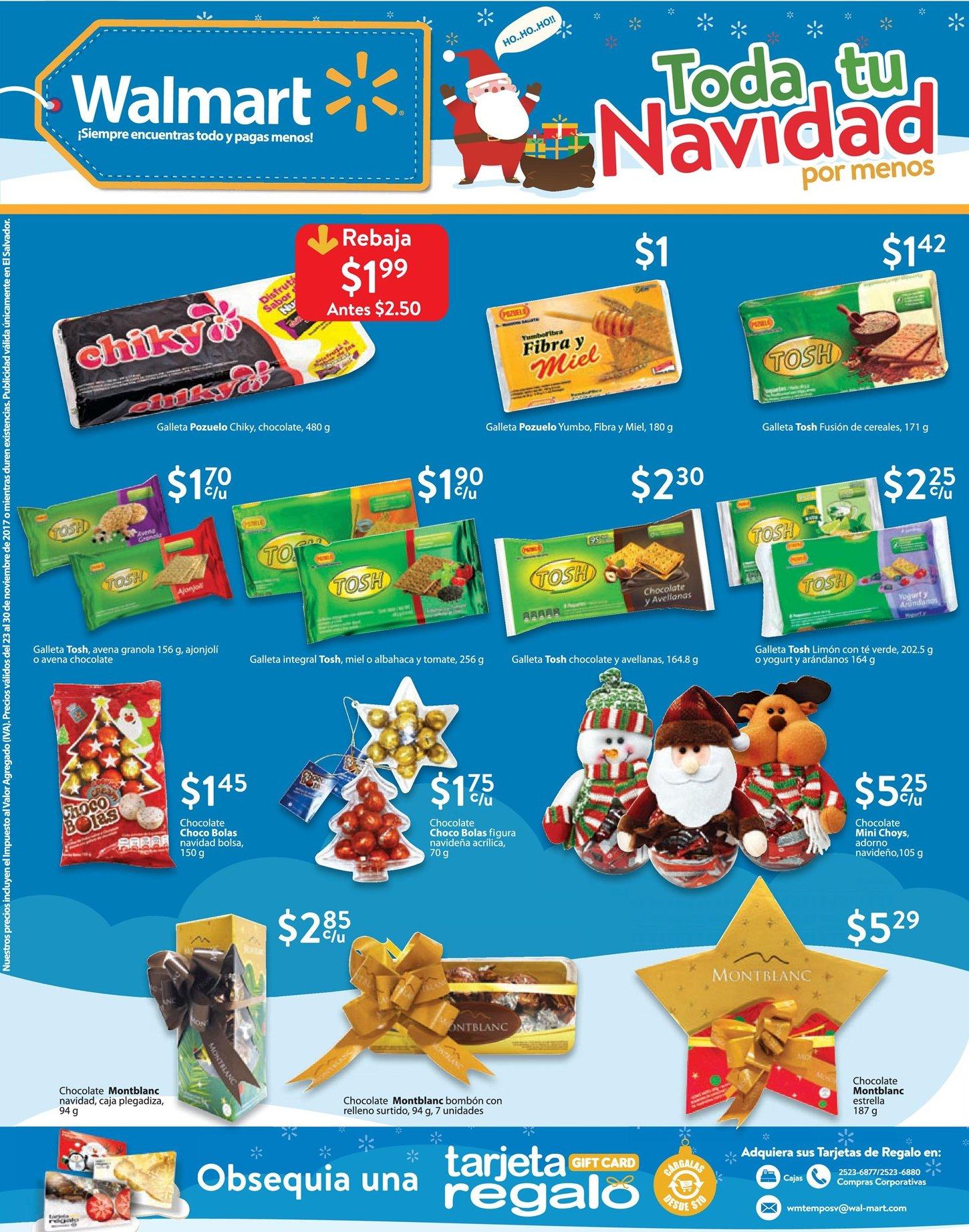 La galletilla navideña con ofertas en tiendas walmart - 23nov17