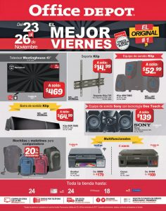 Ofertas Black Friday 2017 Office Depot el salvador