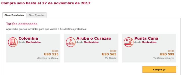 boletos aereos rebajados AVIANCA blackfriday 2017