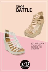 shoe batlle contest with platform style